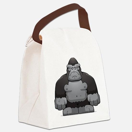 Standing Gorilla Canvas Lunch Bag