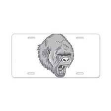 Angry Gorilla Aluminum License Plate