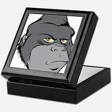 Gray Cartoon Gorilla Keepsake Box