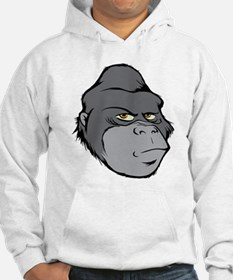 Gray Cartoon Gorilla Hoodie