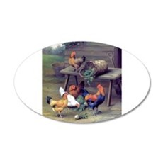 Rooster Turnip Farm Wall Decal