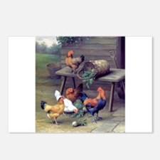 Rooster Turnip Farm Postcards (Package of 8)