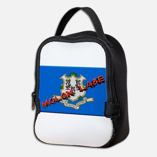 Connecticut Molon Labe Neoprene Lunch Bag