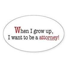 ... an attorney Oval Decal