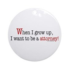 ... an attorney Ornament (Round)