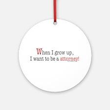 ... an attorney Ornament (Round)