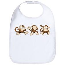 No Evil Monkey Bib