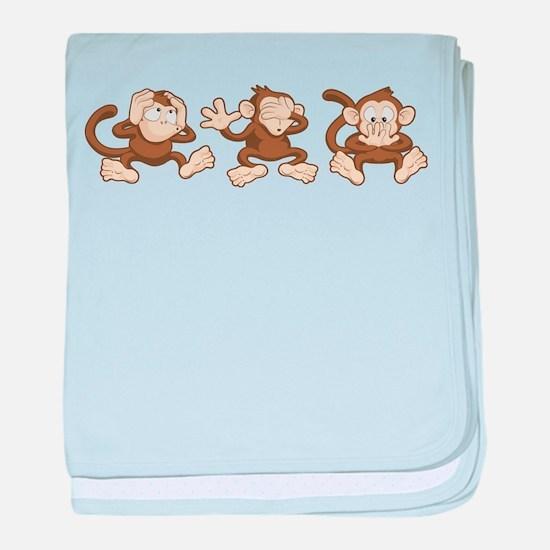 No Evil Monkey baby blanket