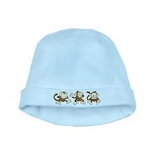 No Evil Monkey baby hat
