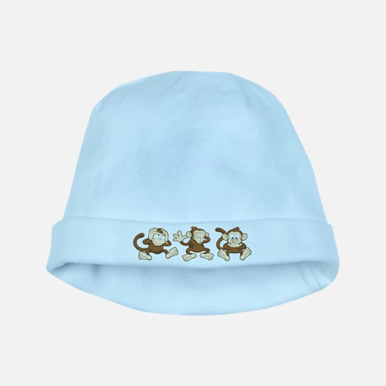 No Evil Monkey baby hat