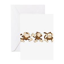 No Evil Monkey Greeting Card
