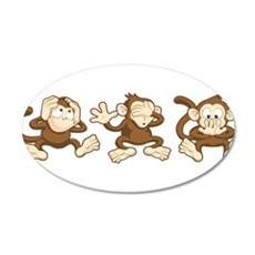 No Evil Monkey Wall Decal