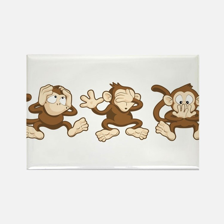 No Evil Monkey Rectangle Magnet