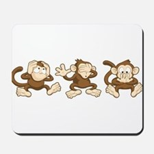 No Evil Monkey Mousepad