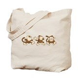 No evil monkey Canvas Bags