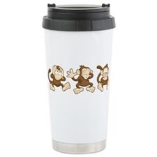 No Evil Monkey Travel Mug