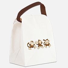No Evil Monkey Canvas Lunch Bag