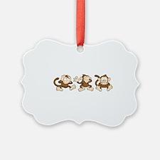 No Evil Monkey Ornament