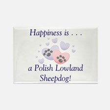 Happiness is...a Polish Lowland Sheepdog Rectangle