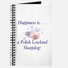 Happiness is...a Polish Lowland Sheepdog Journal