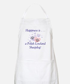 Happiness is...a Polish Lowland Sheepdog BBQ Apron