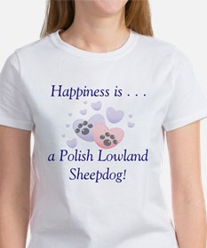 Happiness is...a Polish Lowland Sheepdog Women's T