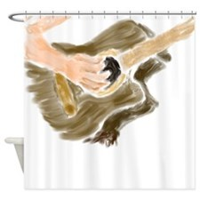 Female guitar painting Shower Curtain