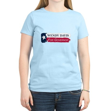 Wendy Davis Governor Texas Flag Women's Light T-Sh