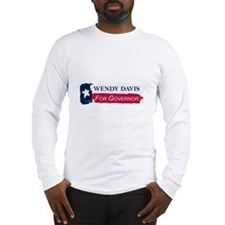 Wendy Davis Governor Texas Flag Long Sleeve T-Shir