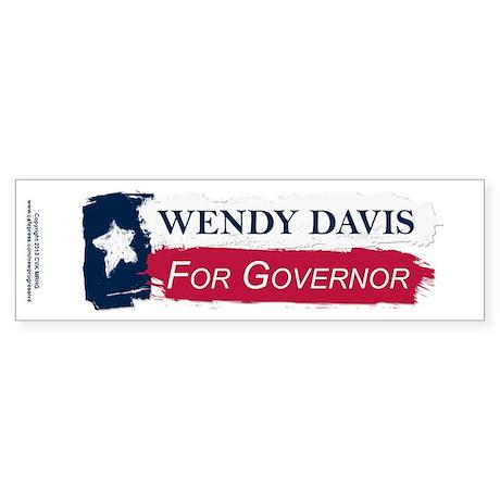 Wendy Davis Governor Texas Flag Sticker (Bumper)