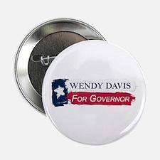 """Wendy Davis Governor Texas Flag 2.25"""" Button"""
