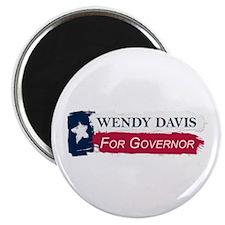 Wendy Davis Governor Texas Flag Magnet