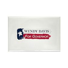 Wendy Davis Governor Texas Flag Rectangle Magnet