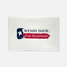 Wendy Davis Governor Texas Flag Rectangle Magnet