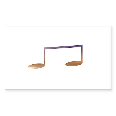 Two eighth notes purple orange Sticker