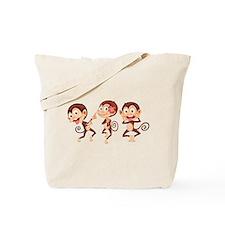 Trio of Monkeys Tote Bag