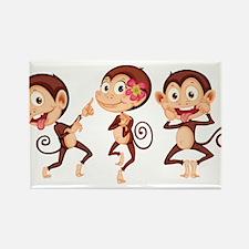 Trio of Monkeys Rectangle Magnet (10 pack)