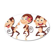 Trio of Monkeys Wall Decal