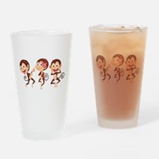 Trio of Monkeys Drinking Glass