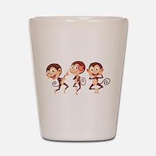 Trio of Monkeys Shot Glass