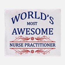 World's Most Awesome Nurse Practitioner Throw Blan