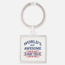 World's Most Awesome X-Ray Tech Square Keychain