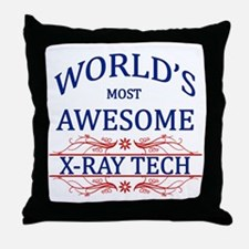 World's Most Awesome X-Ray Tech Throw Pillow