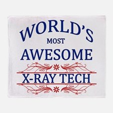 World's Most Awesome X-Ray Tech Throw Blanket