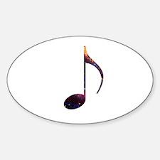 Eighth note nebula Decal