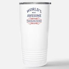 World's Most Awesome Traveling Nurse Travel Mug