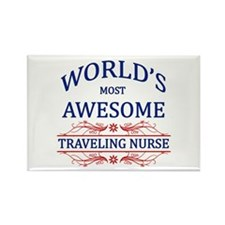 World's Most Awesome Traveling Nurse Rectangle Mag