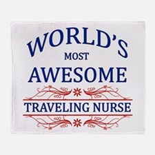 World's Most Awesome Traveling Nurse Throw Blanket