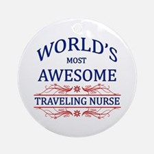 World's Most Awesome Traveling Nurse Ornament (Rou