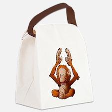 Baby Orangutan Canvas Lunch Bag